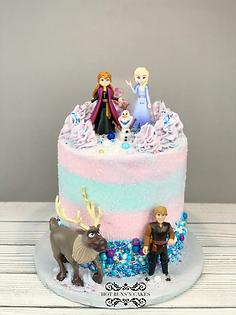 Frozen themed birthday cake sprinkle cake