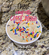 confetti flavored edible cookie dough