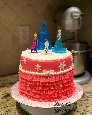 Frozen Themed Cake 8""