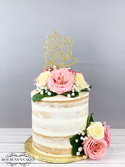 Baby Shower Naked Cake 7""