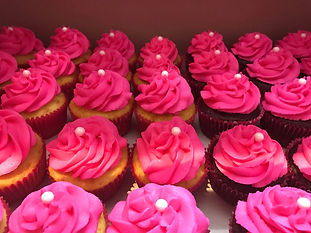 PInk Cupcakes with Pearl