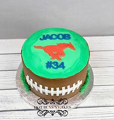 mustang football cake