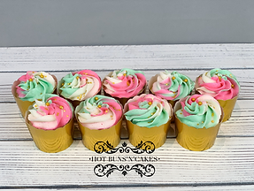 Pink Mint and White Cupcakes Gold