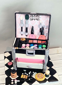 Make up box cake