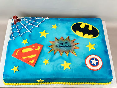 Super Hero Full Size Sheet Cake