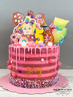 Jojo Siwa Themed Birthday Cake Ganache 8""