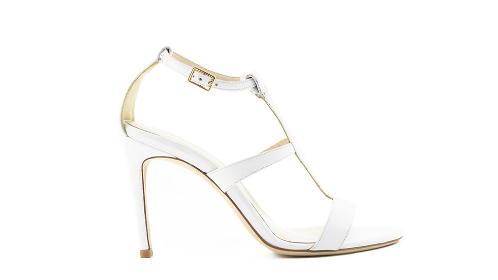 Amina High Heeled Sandal White