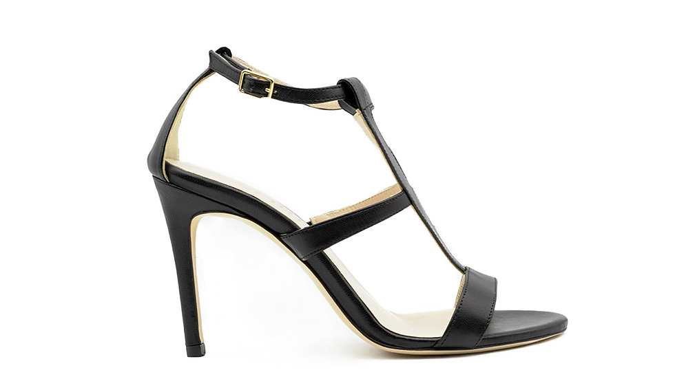 Amina High Heel Sandal Black