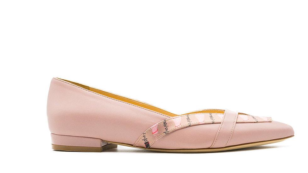 Juana Ballerina Flat Rose