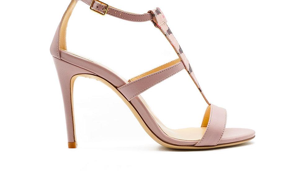 Amina High Heeled Sandal Rose