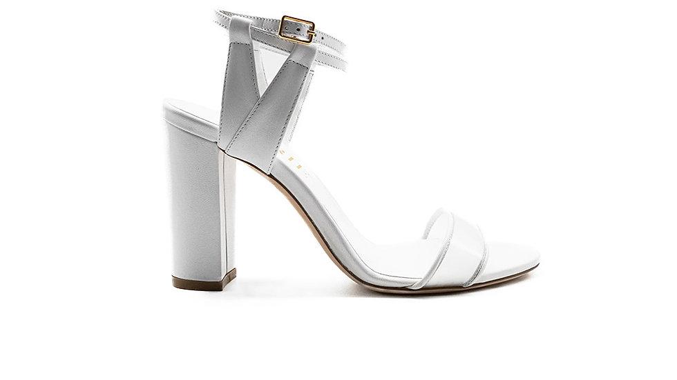 Minty Strappy Sandal White