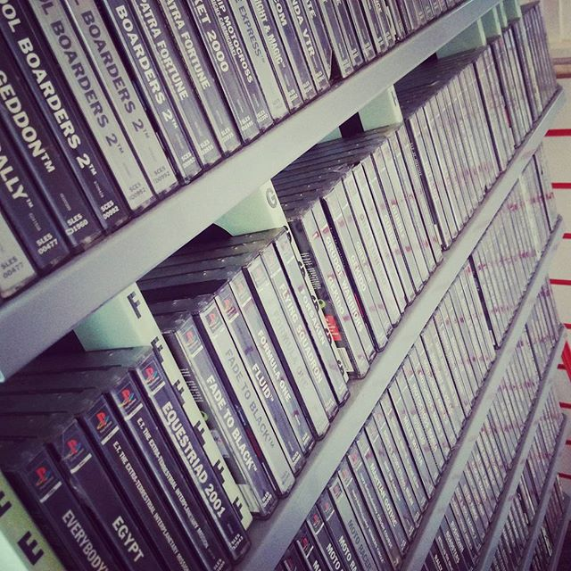 That's all of the PS1 games ready in the new Retro room _) #playstation #playstationone #ps1 #retrog