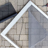 Repairing screen storm porch door with n