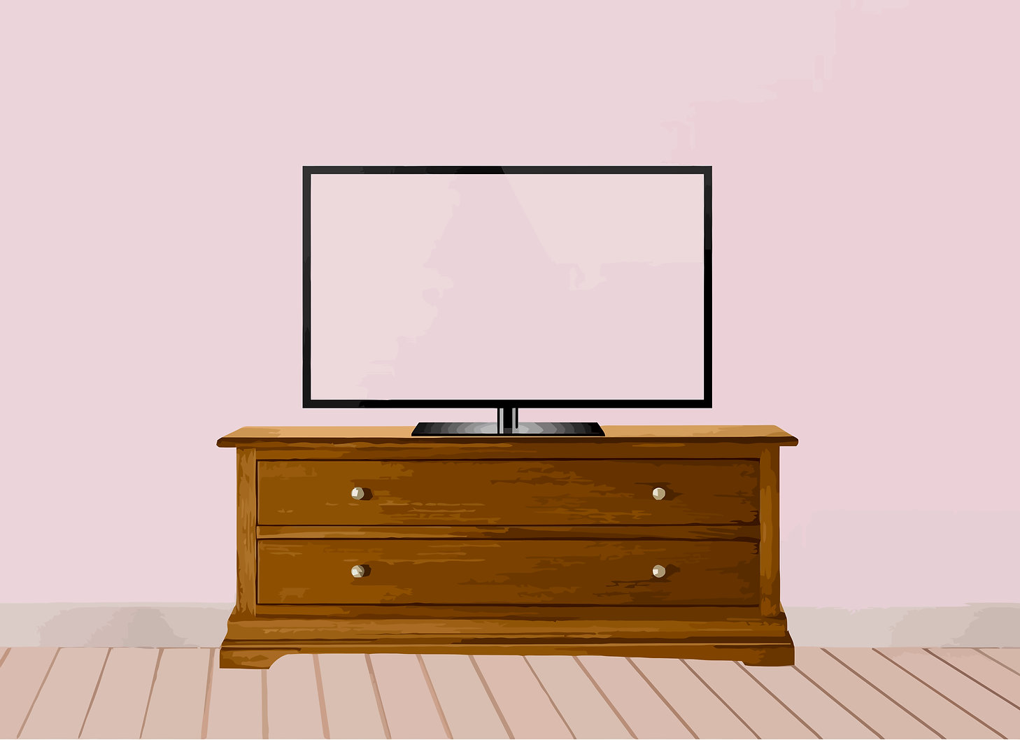 Background image featuring a TV to display videos