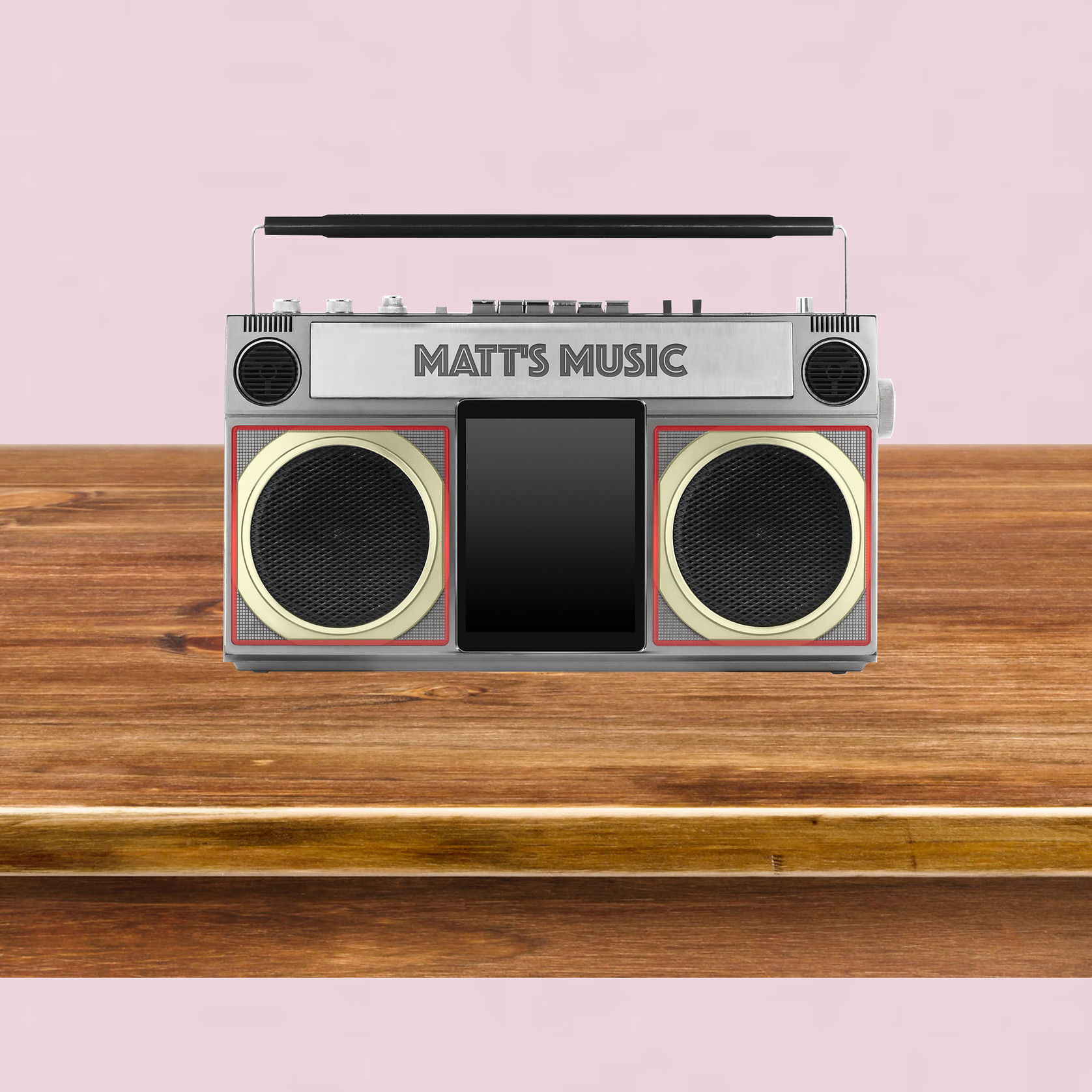 Background image featuring a music player
