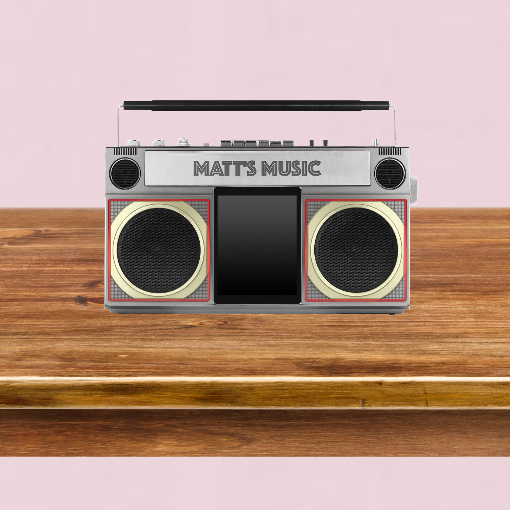 Background image featuring music player
