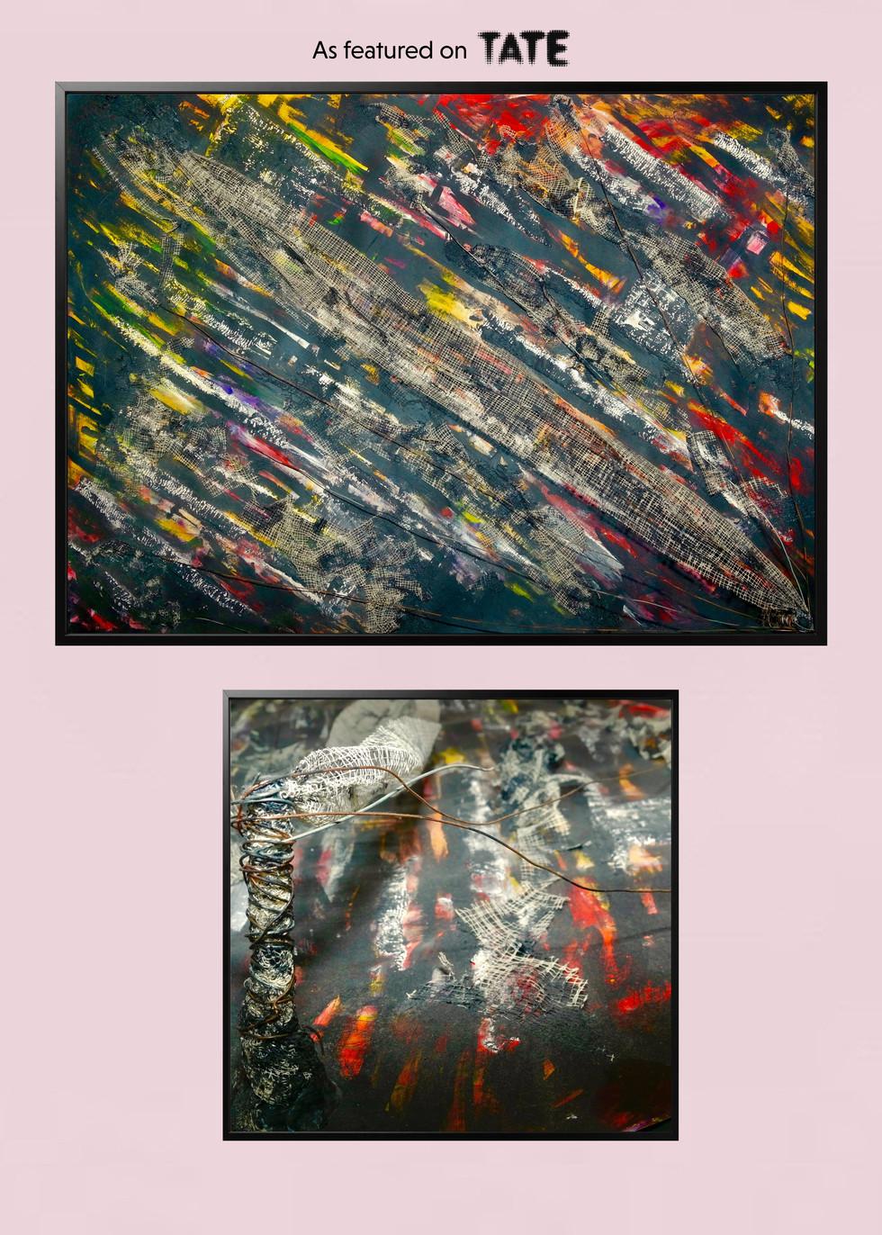 Matthew Blakemore art piece on wall