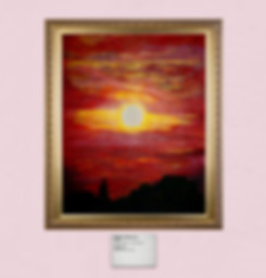 Matthew Blakmore painting titled Sunset