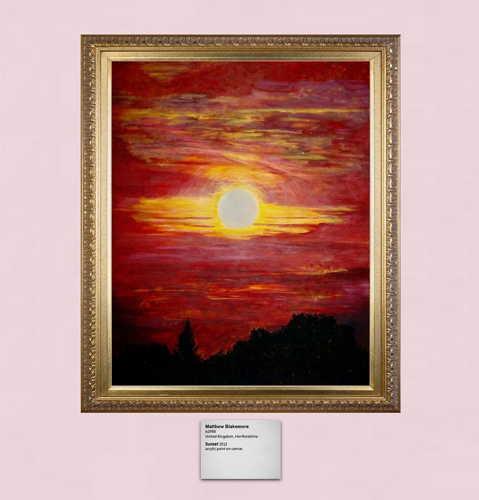Matthew Blakmore painting titled Sunset