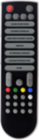 TV remote featuring company video buttons