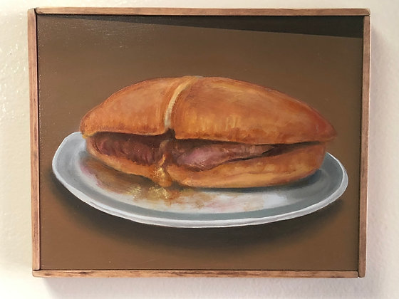 """Sandwich #25 """"Double-Dipped Lamb with Mustard"""""""