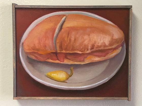 "Sandwich #13 ""Ham with Jalapeno"""