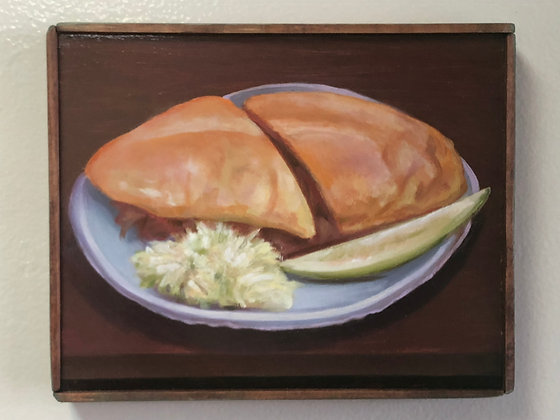 """Sandwich #10 """"Double-Dipped Pork with Coleslaw & Pickle"""""""