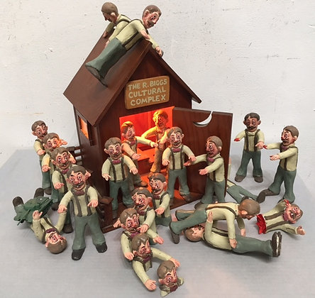 """Sleepwalker Action Figures with The Cultural Complex Outhouse"""