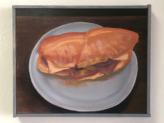 """Sandwich #28 """"Double-Dipped Lamb with Monterey Jack"""""""