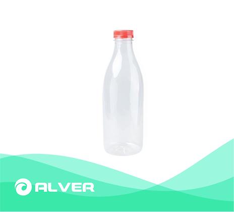 Бутылка, 1000 мл., прозрачная, с крышкой