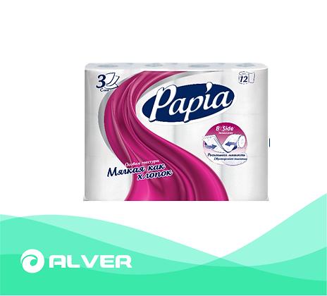 Туалетная бумага Papia 12 рул 3слой