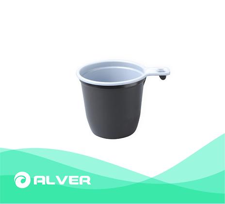 Чашка кофейная 180 мл. двухцветная, бело-коричневая
