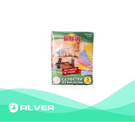 Салфетки из вискозы GutenTag 30*38см, 5 шт в упаковке
