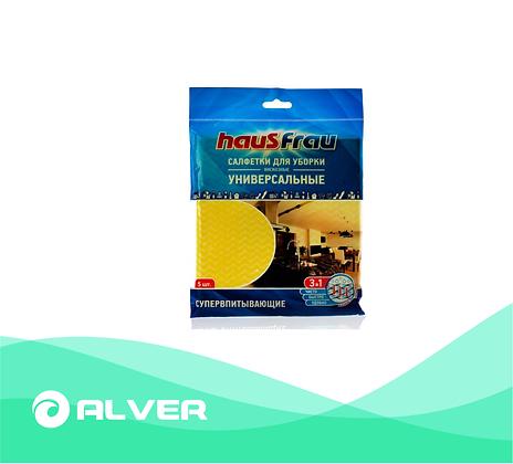 Салфетки для уборки вискозные, универсальные HausFrau 34*38 см
