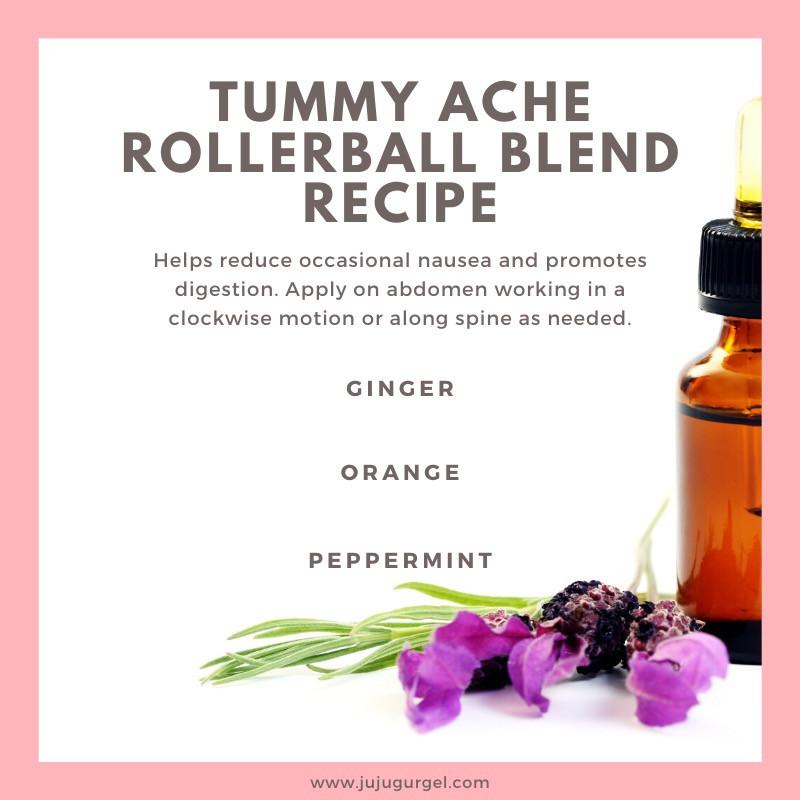 tummy ache rollerball essential blend recipe