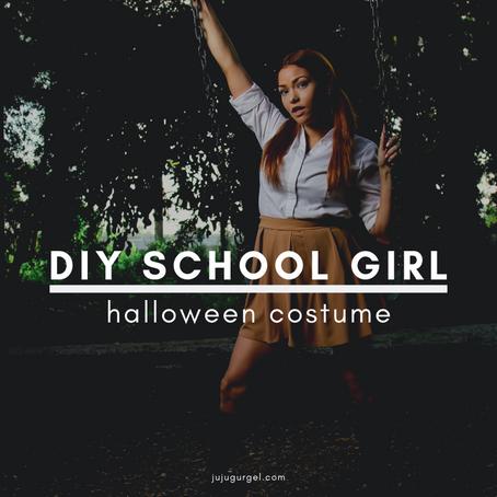 DIY School Girl Halloween Costume