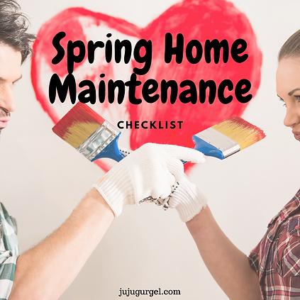 Spring home maintenance checklist pinter