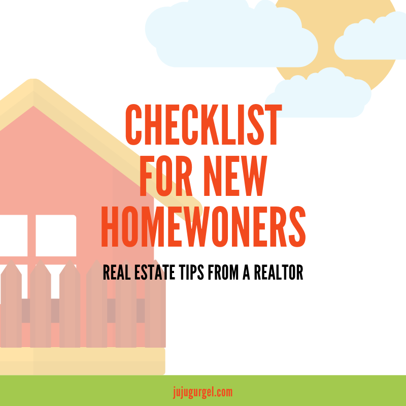 Checklist for new homeowners
