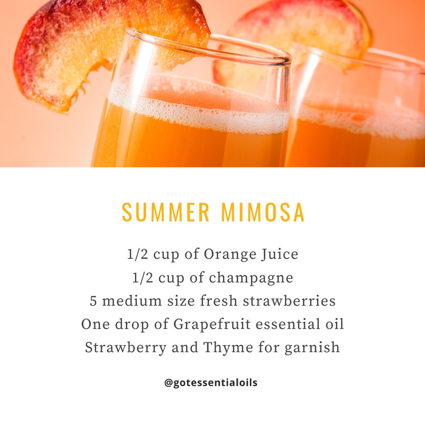 Summer mimosa with essential oil