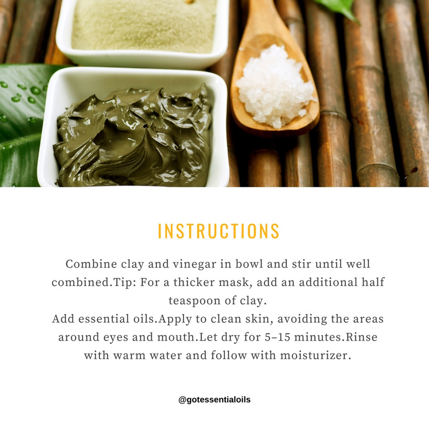 Face Clay mask instructions
