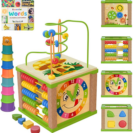 $25.99 (reg $28.99) TOYVENTIVE Wooden Kids Baby Activity Cube *limited time deal