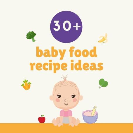 30+ baby food recipe ideas