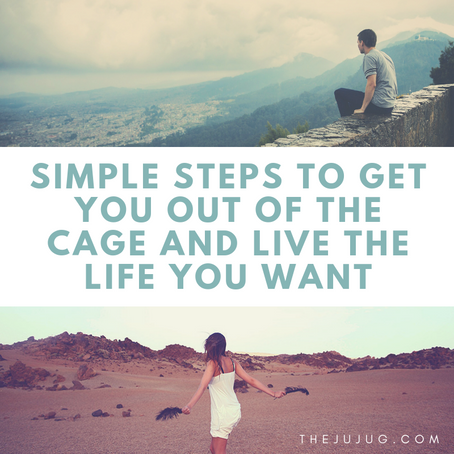 Simple steps to get you out of the cage and live the life you want