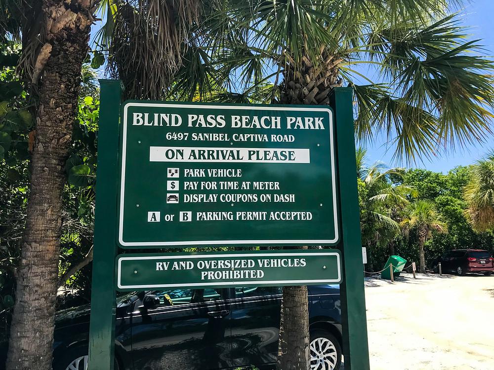 Blind pass beach park parking lot