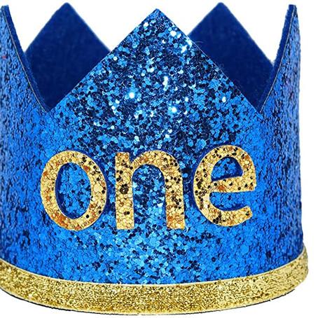 $6.33= 45%OFF Maticr Glitter Baby Boy Girl First Birthday Crown Number 1