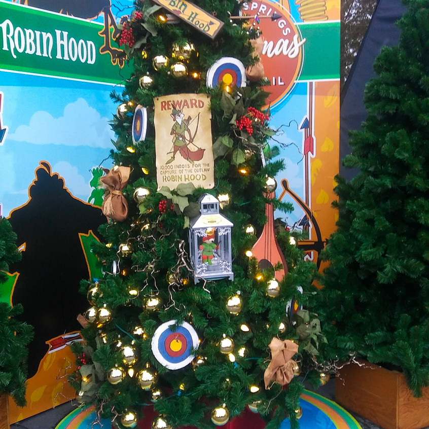 Disney themed Christmas tree at Disney S