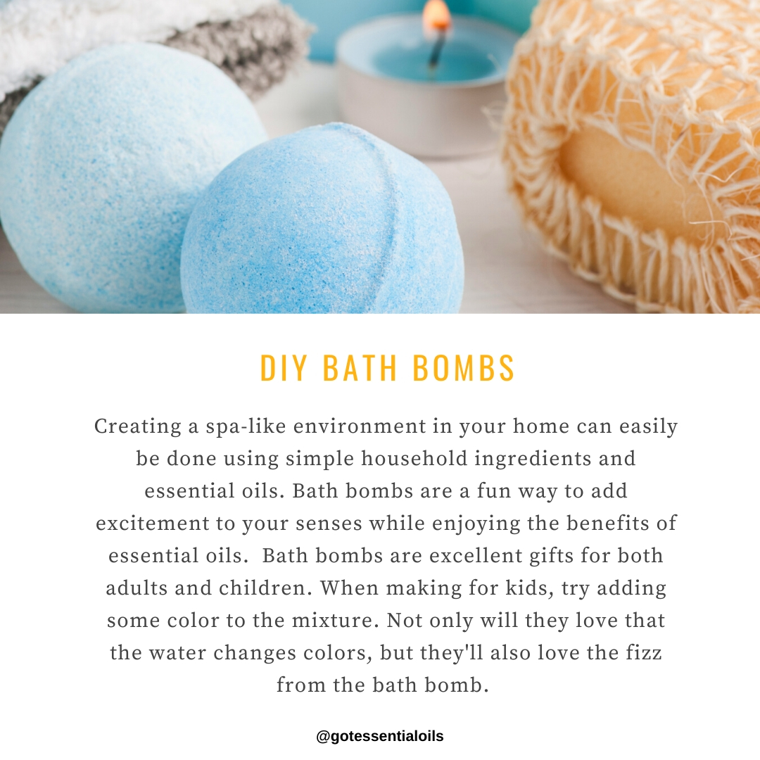 bath bombs using essential oil