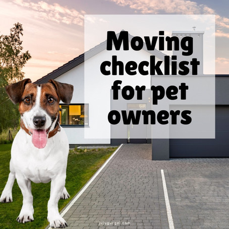 Moving Checklist for pet owners