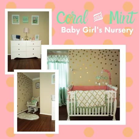 Mint & Coral Baby Girl Nursery