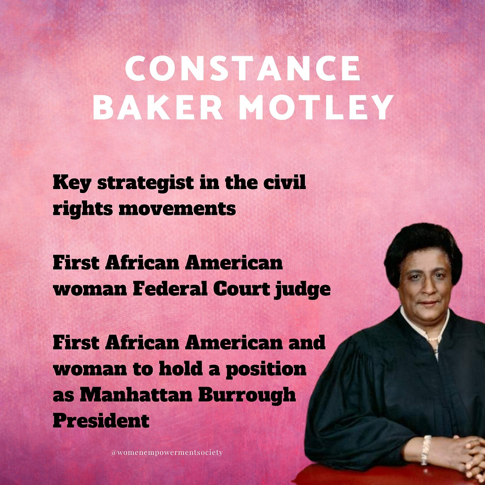 A quick synopses of some of the accomplishments of Constance Baker Motley